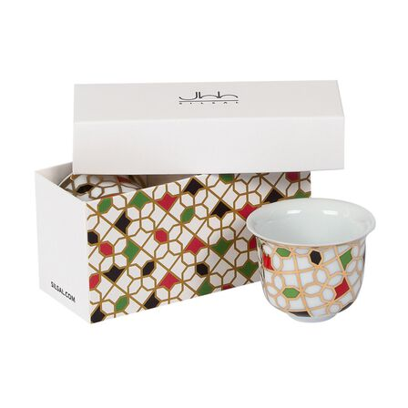 SILSAL DESIGN HOUSE - Silsal Unity Arabic Coffee Cups Gift Box [Set of 2]