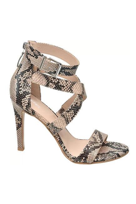 Graceland - Animal Print Strappy High Heeled Sandals, Women