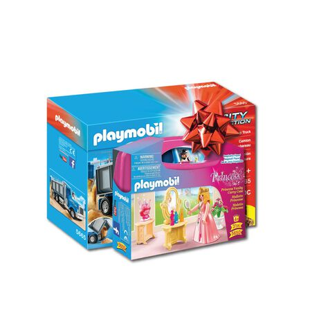 PLAYMOBIL - Playmobil Dump Truck Playset + Playmobil Princess Vanity Carry Case [Bundle]