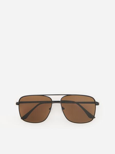 Reserved - Men's Amber Design Sunglasses - Black