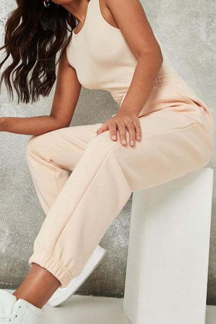 Missguided - Peach Missguided  Oversized 90'S Joggers