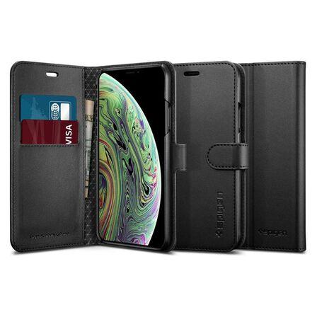 SPIGEN - Spigen Wallet S Black Case for iPhone XS