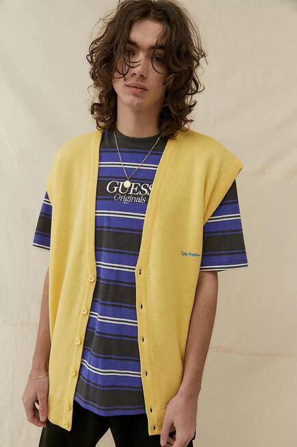 Urban Outfitters - YEL iets frans... Yellow Buttoned Vest