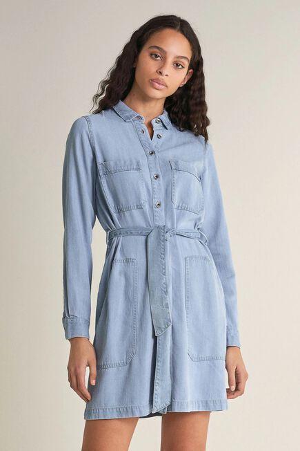 Salsa Jeans - Blue Shirt dress with pockets