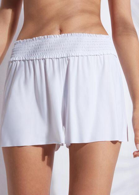 Calzedonia - White Laser-Cut Shorts, Women