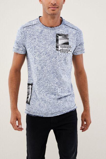 Salsa Jeans - Grey Textured Crew Neck T-Shirt
