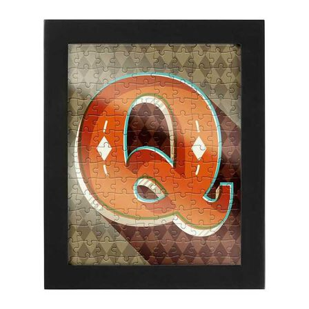 RIDLEYS - Ridleys Alphabet Jigsaw Puzzle with Frame Letter Q