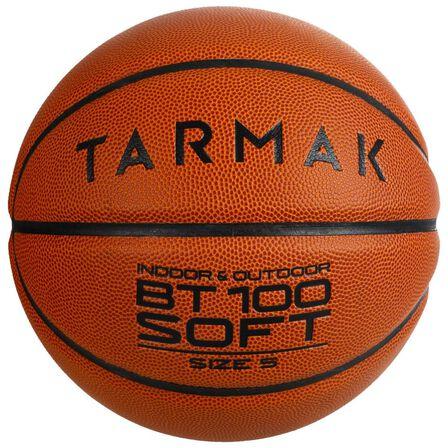 TARMAK - Size 5 Bt100 Kids' Beginner Basketball - Under Age 10 - Blood Orange