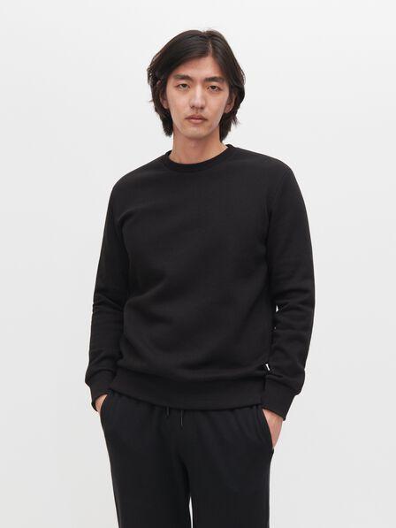 Reserved - Black Minimalist Style Sweatshirt, Men