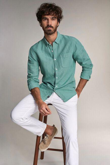 Salsa Jeans - Blue Slim fit linen shirt