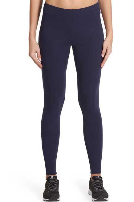 NYAMBA - Salto 100 Women's Slim-Fit Stretching Leggings - Navy Blue, W30 L31