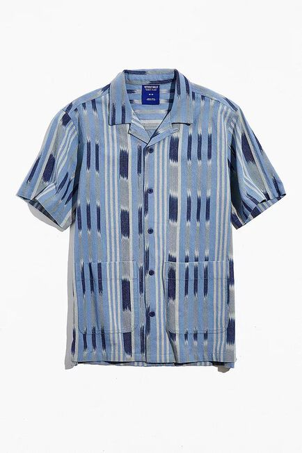 Urban Outfitters - Blue Without Walls Printed Short Sleeve Shirt