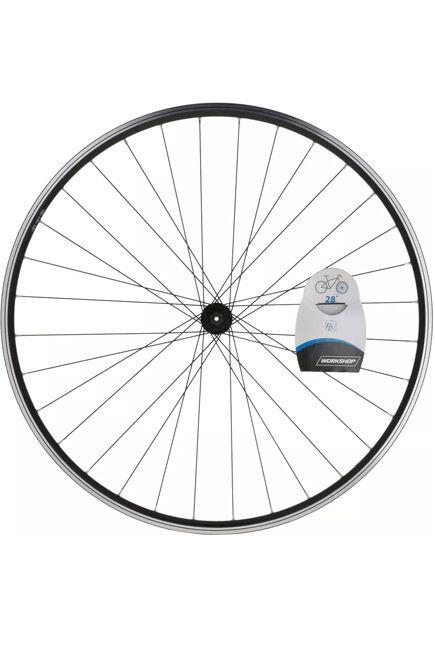 "BTWIN - Front Wheel 28"" Double Wall Rim V-Brake Quick Release Hybrid Bike - Black, Unique Size"