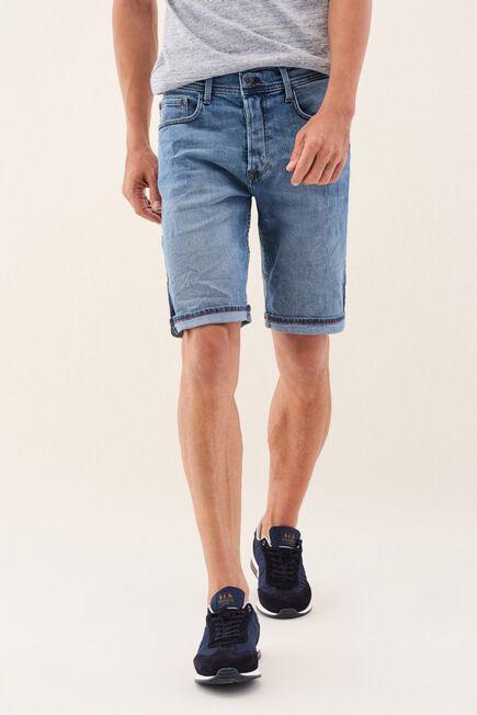 Salsa Jeans - Blue Loose Denim Shorts With Side Strip