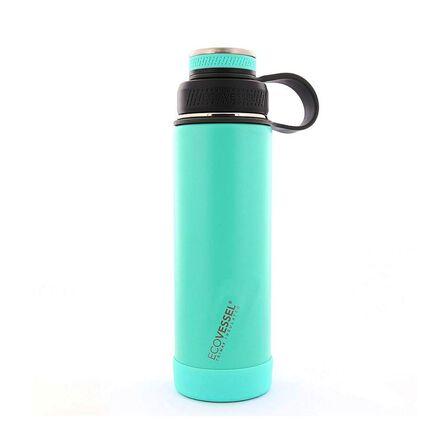 ECO VESSEL - Ecovessel Boulder Trimax Protective Bumper Aqua Breeze Water Bottle 590 ml