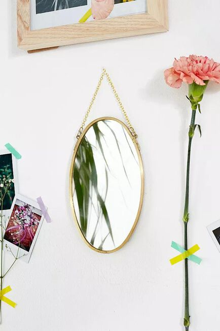 Urban Outfitters - GOLD Small Oval Mirror