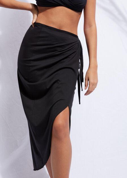 Calzedonia - Black Long Wraparound Sarong, Women - One-Size