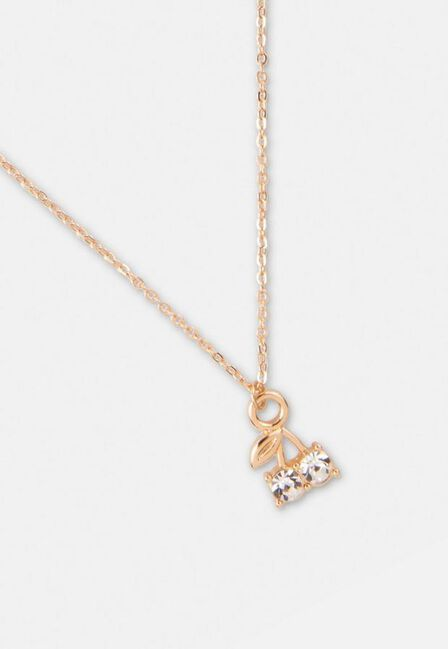 Missguided - Gold Gold Look Cherry Pendant Necklace