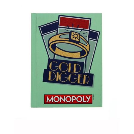 SILVER BUFFALO - Monopoly Gold Digger Hard Cover Journals 6 InchX8 Inch