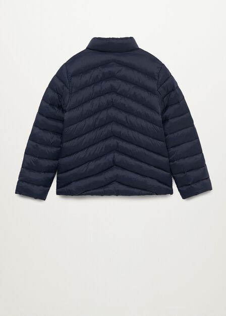 Mango - navy Long collar quilted coat