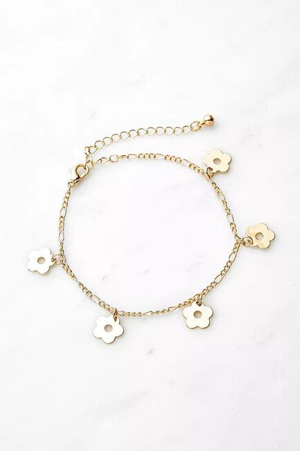 Urban Outfitters - Gold-Tone Floral Bracelet
