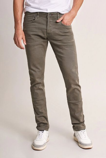 Salsa Jeans - Green Clash slim carrot jeans with rips