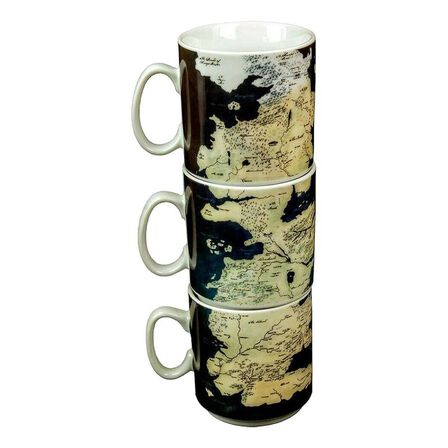 GAME OF THRONES - Game of Thrones Westeros Map Mug Set