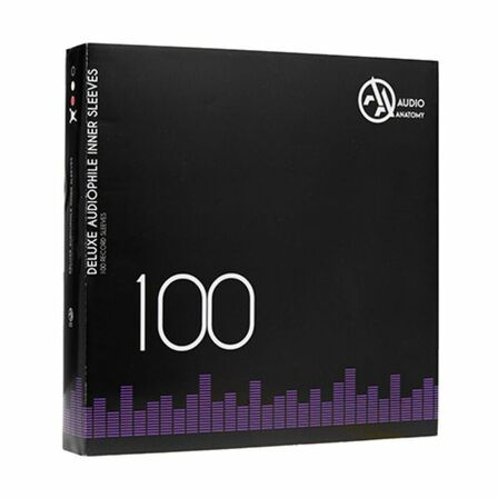 AUDIO ANATOMY - Audio Anatomy Audiophile Antistatic Deluxe Inner Sleeves Black 100 x 12 Inch