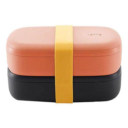 LEKUE - Lekue Lunch Box Coral 1 Litre