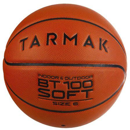 TARMAK - US 6 Kids'/Girls'/Boys'/Women's (Ages 11 And Up) Basketball Bt100 Size 6 - Orange - Blood Orange