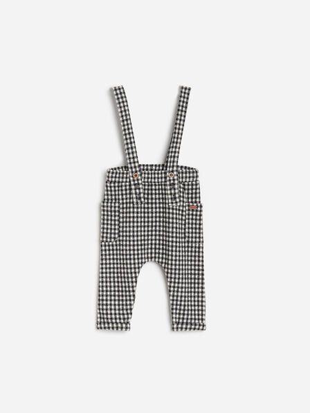 Reserved - Grey Soft Pants With Suspenders, Kids Boy