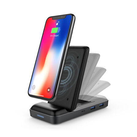 HYPER - HYPER HyperDrive 7.5W Wireless Charger USB-C Hub Charger
