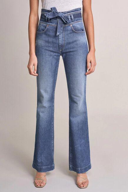 Salsa Jeans - Blue Push Up Wonder capri high-waisted jeans with belt