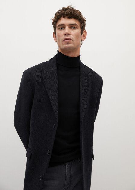 Mango - Black  Merino Wool Sweater