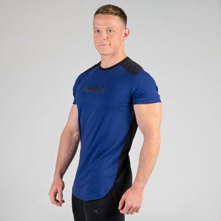 DOMYOS - Small  Weight Training Chest Day T-Shirt, Midnight Indigo