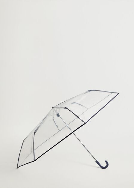 Mango - Navy Transparent Umbrella