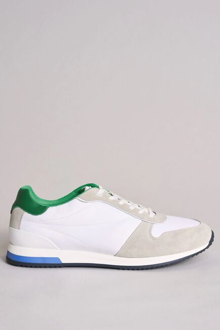 Salsa Jeans - White Suede trainers with side leather inserts