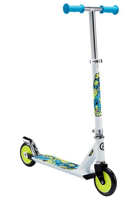 OXELO - Play 3 Kids' Scooter - White/Neon, Unique Size