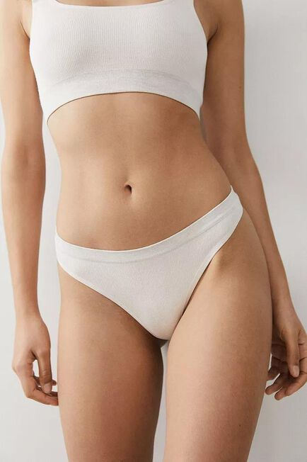 Urban Outfitters - Neutral Out From Under Markie Seamless Ribbed Thong