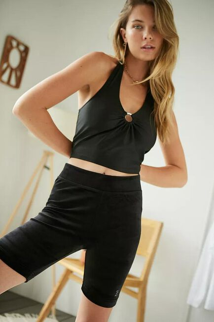 Urban Outfitters - Black Juicy Couture UO Exclusive Velour Cycling Shorts