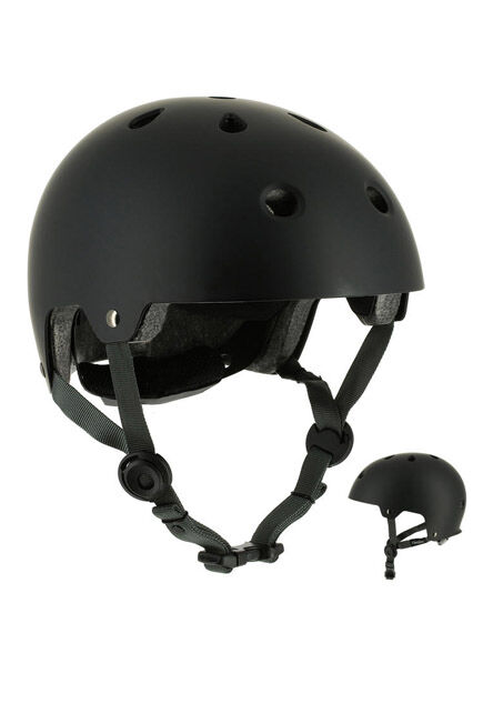 OXELO - Medium  Play 5 Skateboard Scooter Skating Helmet, Black