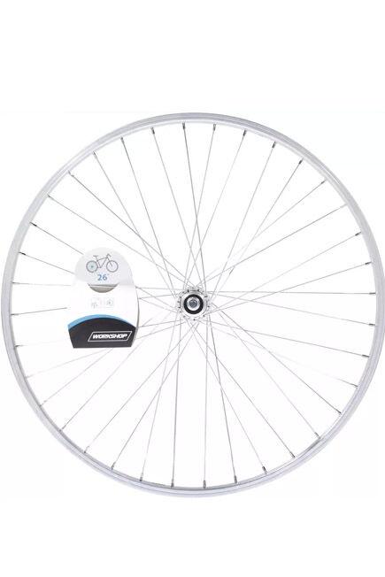 ROCKRIDER - Unique Size  Wheel 26 Rear Single-Walled V-brake Freewheel Mountain Bike - Silver, Default