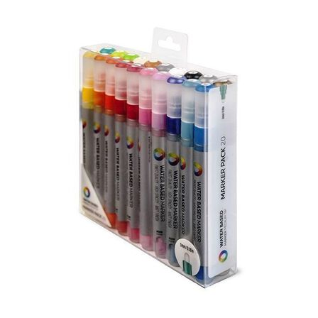 MONTANA COLORS SL - Montana Colors Water Based Markers Medium 5 mm [Pack of 20]