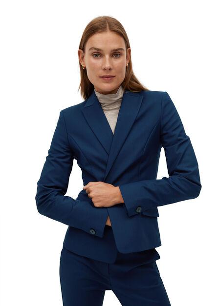 Mango - Navy Structured Suit Blazer