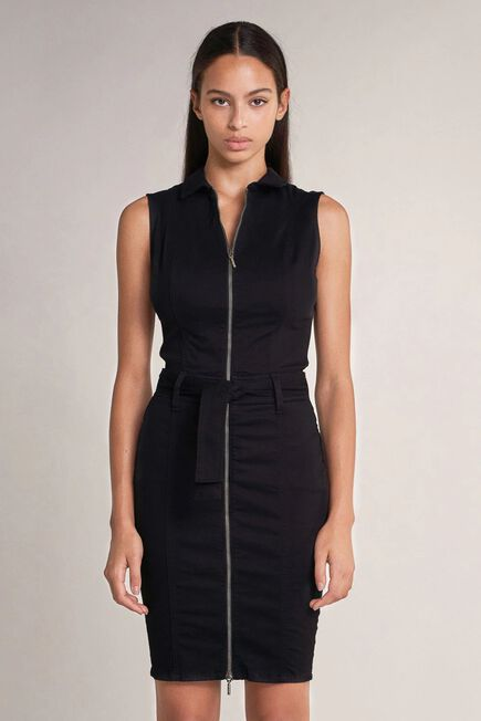 Salsa Jeans - Black Push in dress with belt