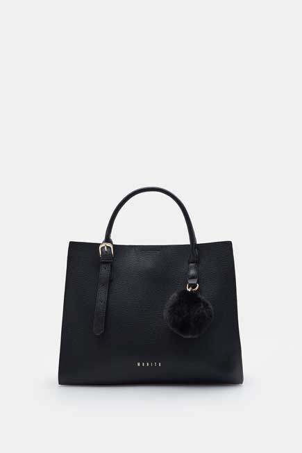Mohito -  City Bag With A Fluffy Keyring - Black