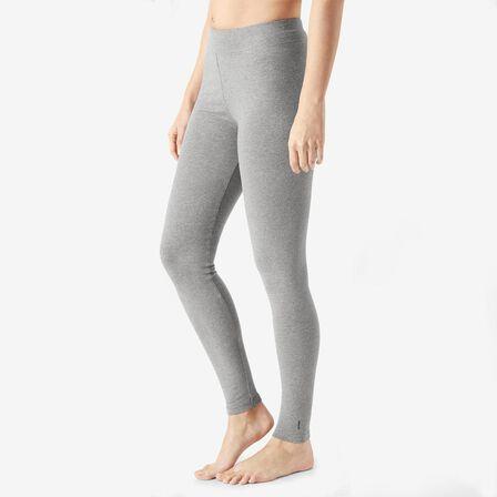 NYAMBA - W26 L30  Fit+ 500 Women's Slim-Fit Stretching Leggings AOP, Grey
