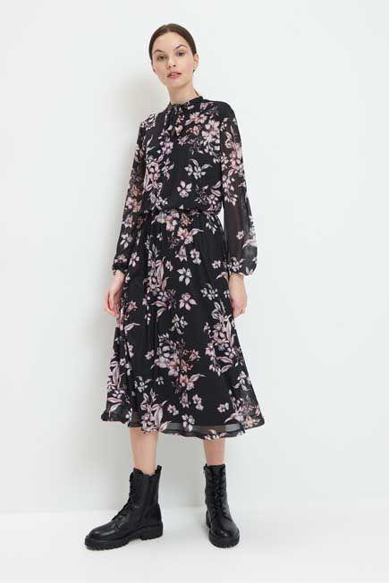 Mohito -  Midi Dress In Print - Black