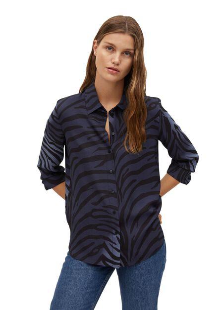 Mango - Medium Blue Recycled Polyester Shirt