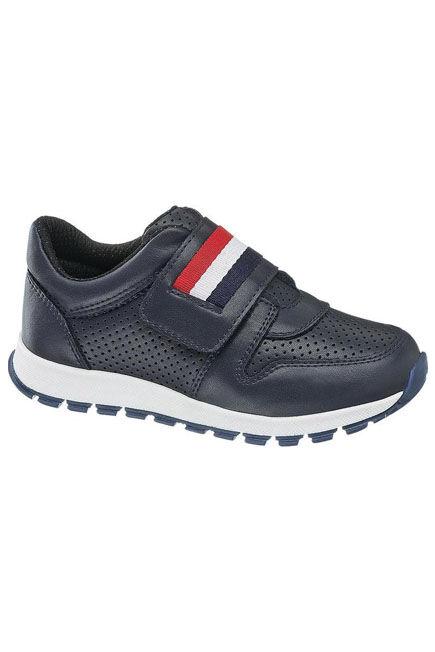 Bobbi-Shoes - Blue Banded Shoe, Kids Boy
